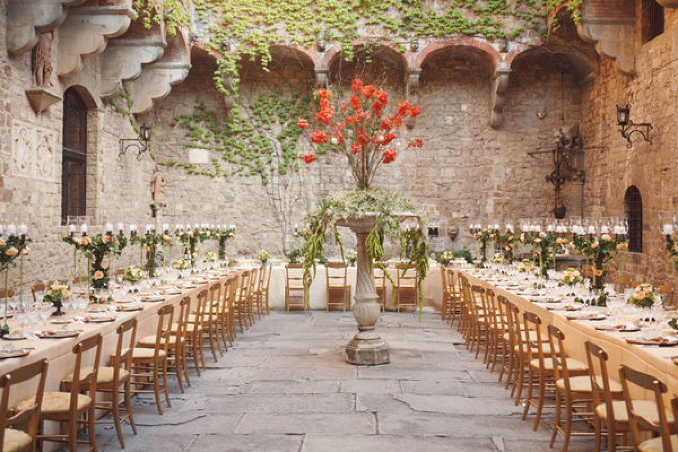 Di que s a las mesas alargadas para tu boda for Mesas de bodas