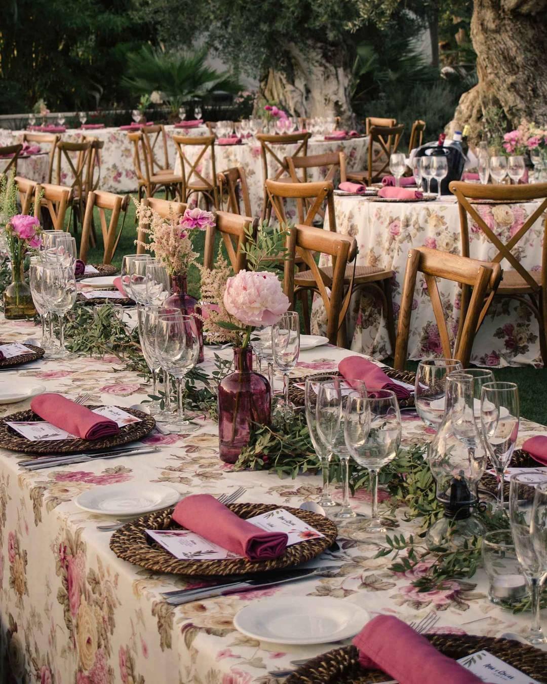 Di que s a las mesas alargadas para tu boda - Las mesas fiestas 2017 ...