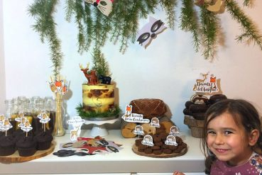 Woodland decoración detalles para cumpleaños infantil de animales del bosque
